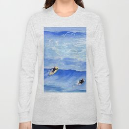 Getting ready to take this wave surf art Long Sleeve T-shirt