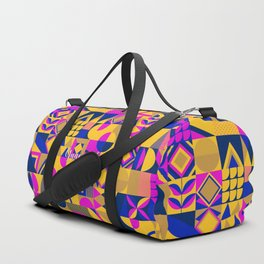 SQUARES MULTICOLOR Duffle Bag