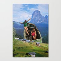 kids Canvas Prints featuring Kids by John Turck