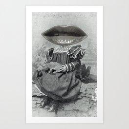 Linda Lippy Lapin Lap Art Print