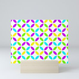 Citric fun colors circles design for home ornament. Mini Art Print