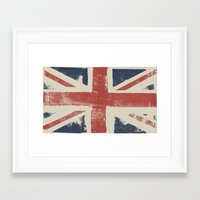 union jack Framed Art Prints featuring Union Jack by David Hand