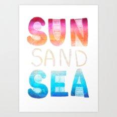 SEA SAND SUN Art Print