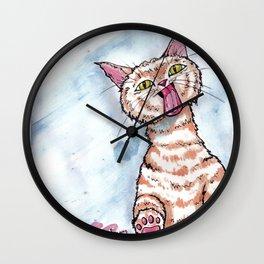 Window Licker- Gato  Wall Clock