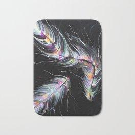 Neon Feathers Bath Mat