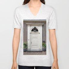 White church door Unisex V-Neck