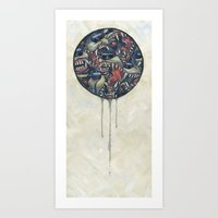 anxiety Art Prints featuring Anxiety by Mallory Hodgkin