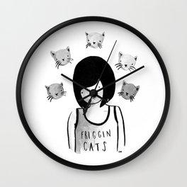 Friggin' Cats Wall Clock