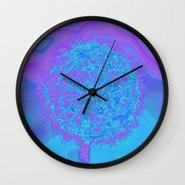 colored dandelion Wall Clock