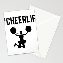 Hashtag Cheerlife Funny Cheerleader Graphic Stationery Cards
