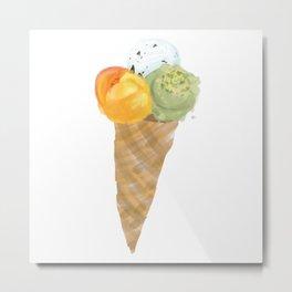 Nice Ice cream cone Metal Print