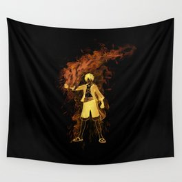 Pirate King Fire Fist Wall Tapestry