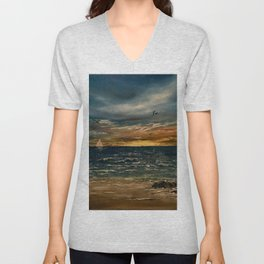 Oil  Painting Unisex V-Neck