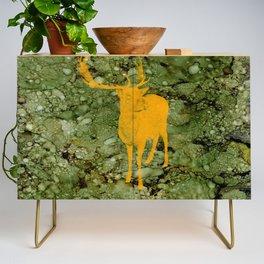 Deer on Green Camo Credenza