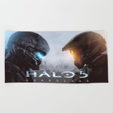 halo 5  , halo 5  games, halo 5  blanket, halo 5  duvet cover, halo 5  shower curtain, Beach Towel