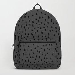 Gray Linen Paint Drops Backpack