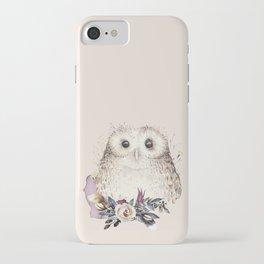Boho Illustration- Be Wise Little Owl iPhone Case