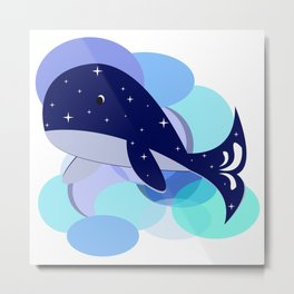 Star-struck Whale Metal Print