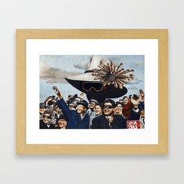 UFO. Framed Art Print