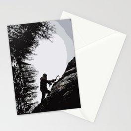 Climbers Silhouette #2 Stationery Cards