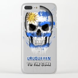 To The Core Collection: Uruguay Clear iPhone Case