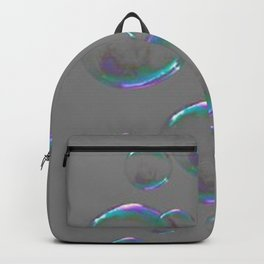 IRIDESCENT SOAP BUBBLES GREY COLOR DESIGN Backpack