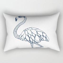 Navy Blue Flamingo Rectangular Pillow