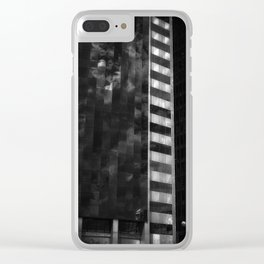 white cross Clear iPhone Case