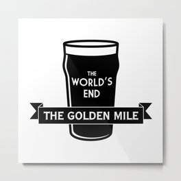 The World's End - The Golden Mile Metal Print