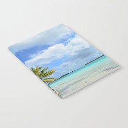 Tropical palm beach in the Pacific Notebook
