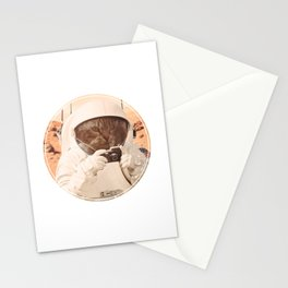 Astronaut Cat on Mars Stationery Cards