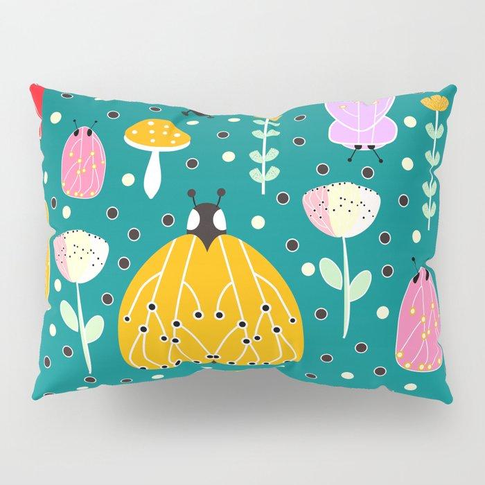Bugs and mushrooms Pillow Sham