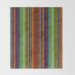 Primitive Grunge Stripe Throw Blanket