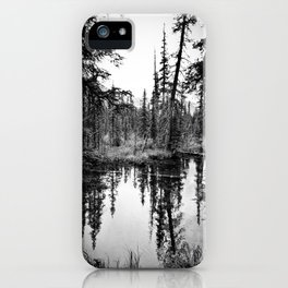 Trees Near The River - Glacier National Park iPhone Case
