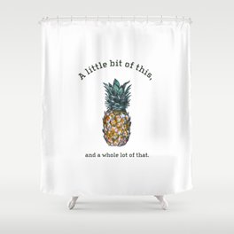 A Little bit of this. Shower Curtain