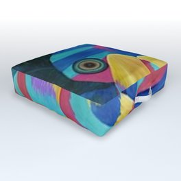 Butterfly Fish Birds Outdoor Floor Cushion