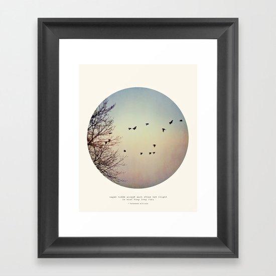 Caged Birds Framed Art Print