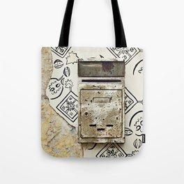 Mailbox and Mural Tote Bag