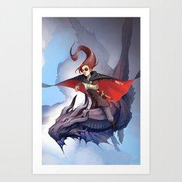 Dragon Assassin Art Print