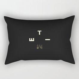 flat circle Rectangular Pillow