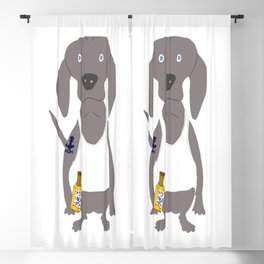 Weim USA Grey Ghost Weimaraner Dog Hand-painted Pet Drawing Blackout Curtain