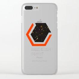 Dark Energy Survey Logo for Dark Colors Clear iPhone Case