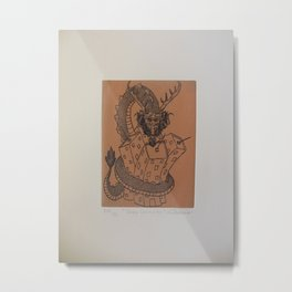 Draco constrictor (possitive) Metal Print