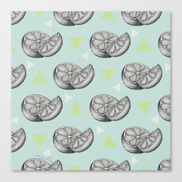 When life gives you lemons, draw them. Canvas Print