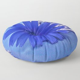 Still life with chicory flower Floor Pillow