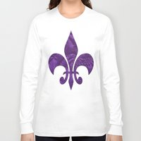 renaissance Long Sleeve T-shirts featuring Renaissance Purple by Charma Rose