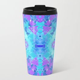 95 - Ice colour abstract pattern Travel Mug