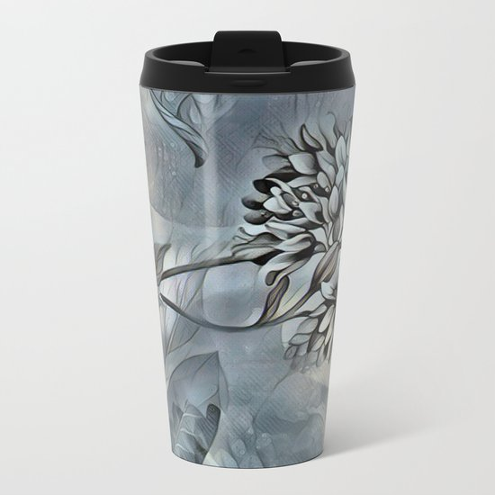 Barely Blue Metal Travel Mug