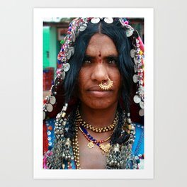Portrait, Indian Woman, Goa Art Print