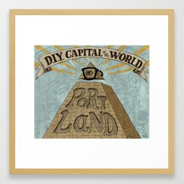 Portland - D.I.Y. Capital of the World Framed Art Print